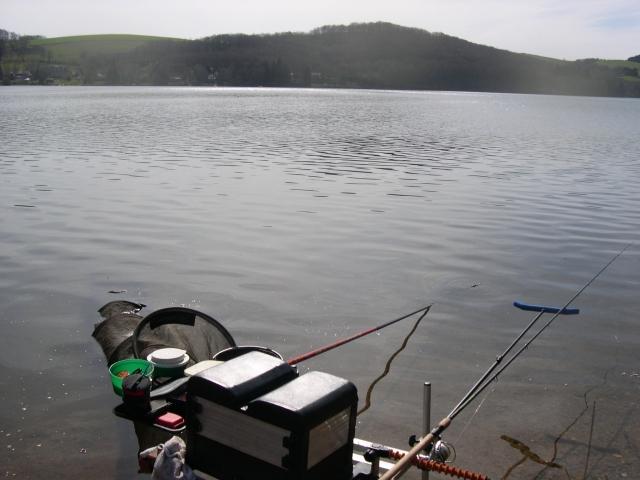 installation pêche au feeder