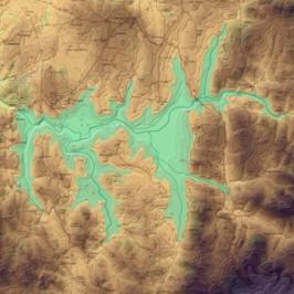 Carte lac de pareloup pêche
