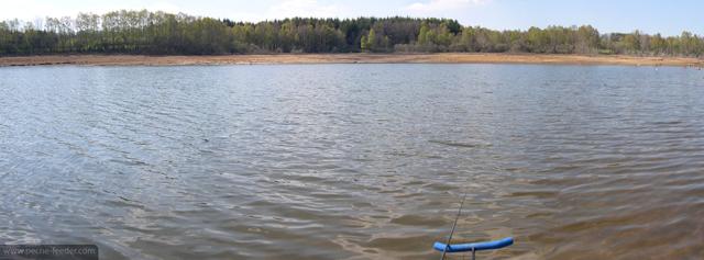 Action de pêche au quiver
