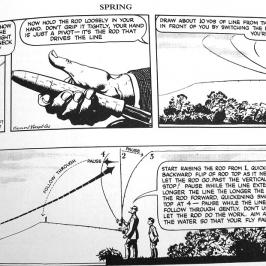 Apprendre à pêcher à la mouche avec Mr Crabtree goes fishing