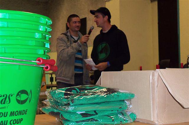 Podium du concours de pêche de pareloup