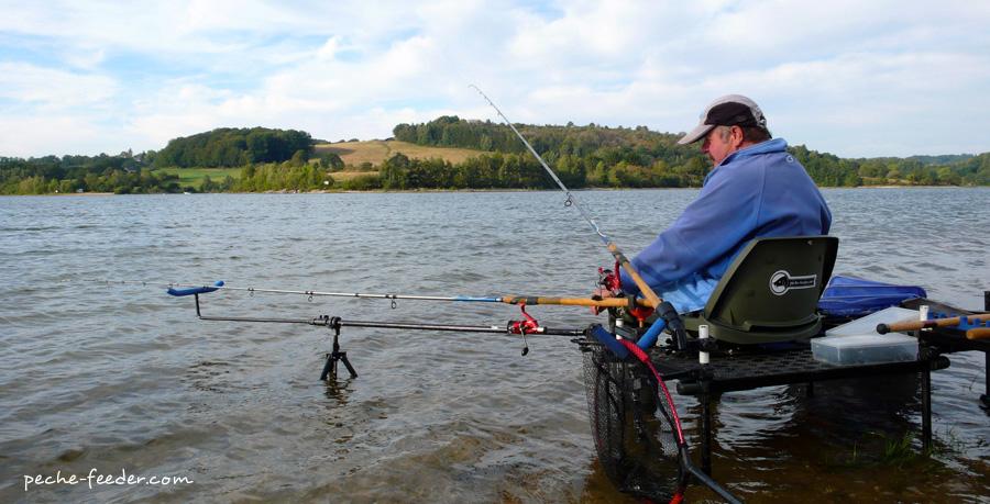 Le ponton de pêche au feeder de René