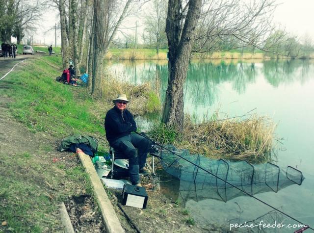 Position de pêche au feeder