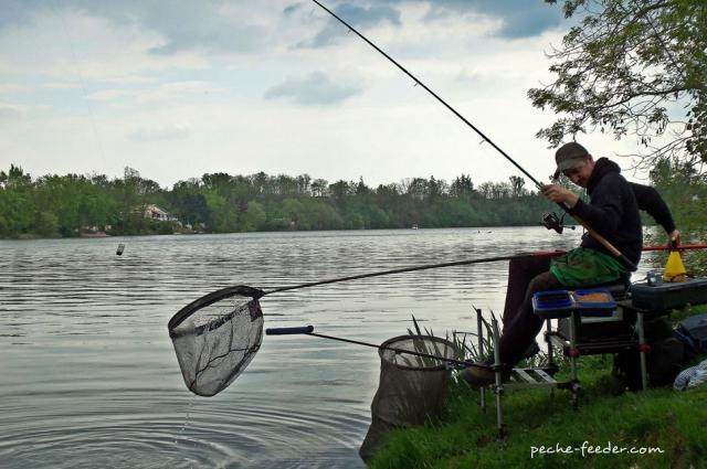 Pêche au coup et épuisette