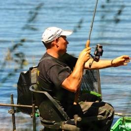Le champion de France en titre de pêche à la plombée Elie Monatlik