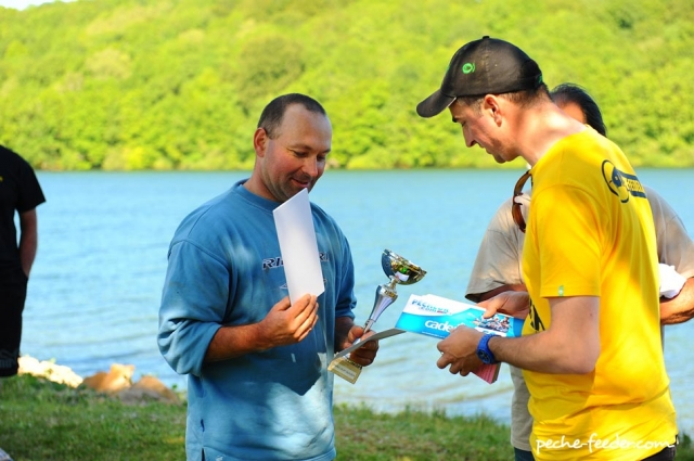 Franck Viguié vainqueur de cete deuxieme édition du concours quiver du lac de Pareloup