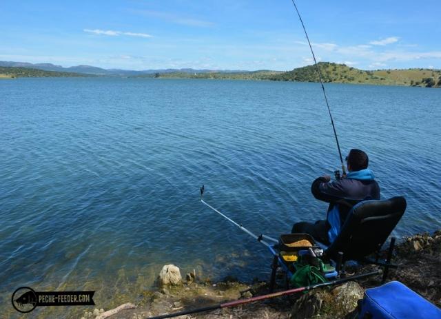 Pêche au feeder lac de Orellana
