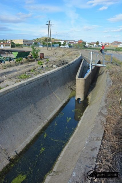 Canal d'irrigation à Santa Amalia