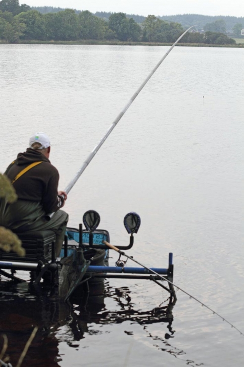 Adam-Wakelin-lifts-into-a-long-pole-fish-on-Lough-Scur---low-res