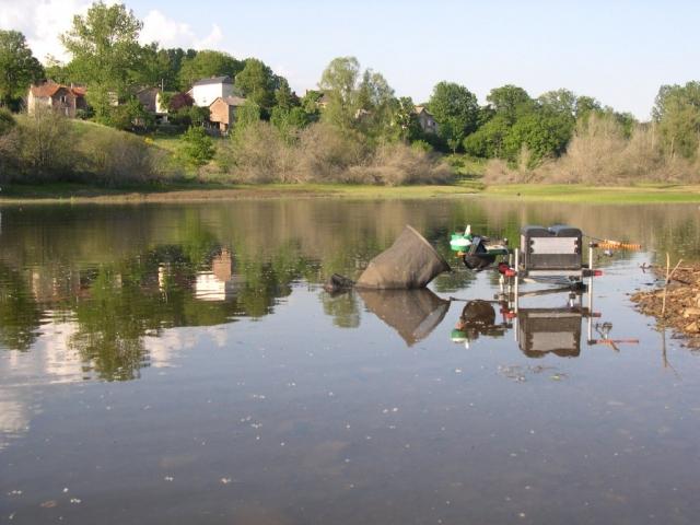 Pêche au feeder au lac de Pont de Salars