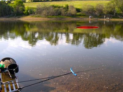Zone de pêche au feeder