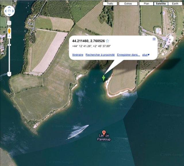 Google Maps et coin de pêche