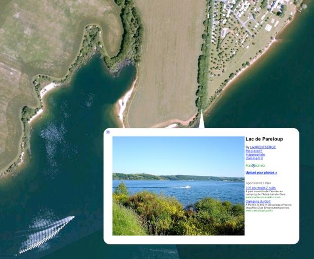 Les photos de Google earth pour reperer un coin de pêche