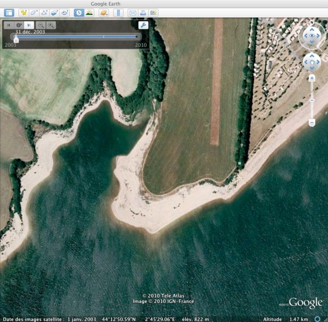 Google earth pour la pêche