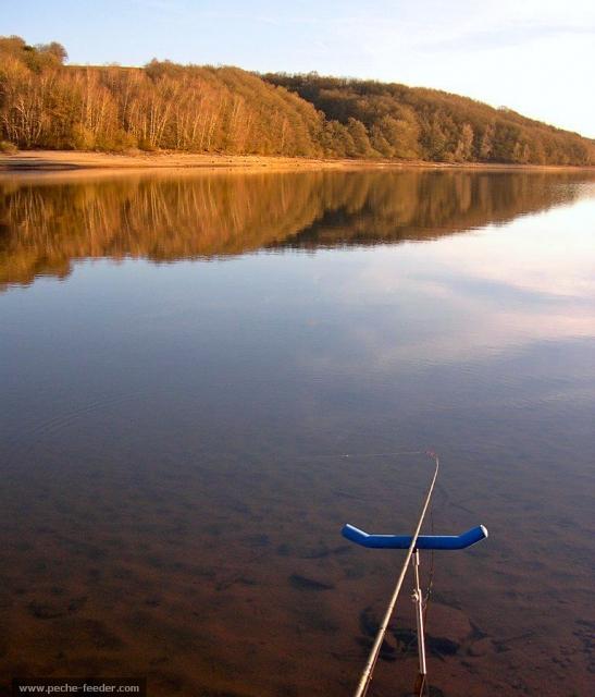 La pêche au feeder en hiver au lac de Pareloup