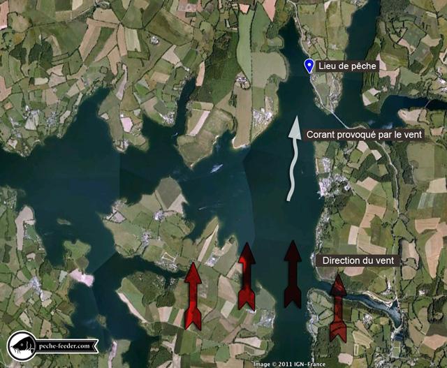 Plan du lieu de pêche lac de pareloup