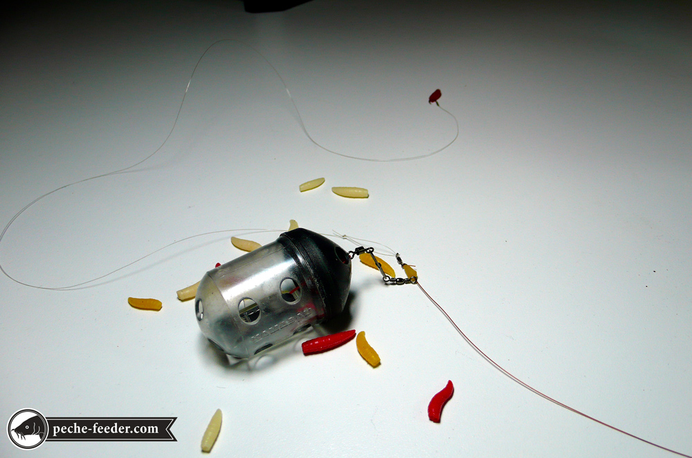 simulation du montage feeder simple avec asticots