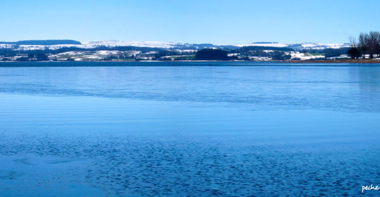 Photo of Carte postale hivernale au lac de Pareloup